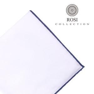 ROSI COLLECTION ロージコレクション ポケットチーフ メンズ ホワイト 白 並行輸入品|utsubostock