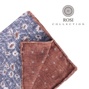 ROSI COLLECTION ロージコレクション ポケットチーフ メンズ リバーシブル 花柄 ネイビー 紺 並行輸入品|utsubostock