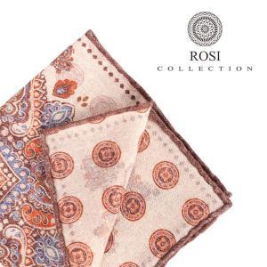 ROSI COLLECTION ロージコレクション ポケットチーフ メンズ リバーシブル ベージュ 並行輸入品 utsubostock