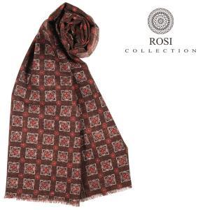 ROSI COLLECTION ロージコレクション ストール メンズ 秋冬 リバーシブル ブラウン 茶 並行輸入品|utsubostock