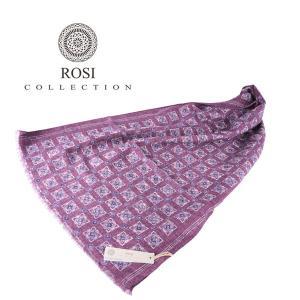 ROSI COLLECTION ロージコレクション ストール メンズ 秋冬 リバーシブル パープル 紫 並行輸入品|utsubostock