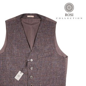 【46】 ROSI COLLECTION ロージコレクション ジレ メンズ 秋冬 ブラウン 茶 並行輸入品 ベスト|utsubostock