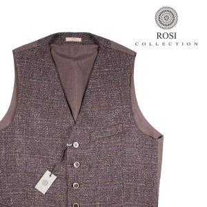 【50】 ROSI COLLECTION ロージコレクション ジレ メンズ 秋冬 ブラウン 茶 並行輸入品 ベスト|utsubostock