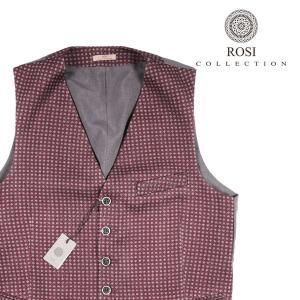 【46】 ROSI COLLECTION ロージコレクション ジレ メンズ 秋冬 水玉 レッド 赤 並行輸入品 ベスト|utsubostock