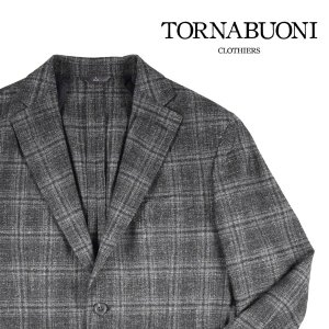 【46】 TORNABUONI トルナブォーニ ジャケット メンズ 秋冬 チェック ブラック 黒 並行輸入品 アウター トップス|utsubostock