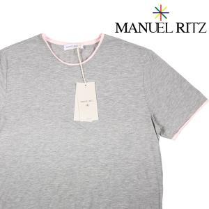 【L】 Manuel Ritz マニュエル リッツ 半袖シャツ メンズ 春夏 グレー 灰色 並行輸入品 カジュアルシャツ|utsubostock