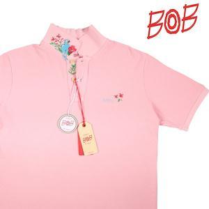 【XL】 BOB ボブ 半袖ポロシャツ FRONT メンズ 春夏 鳥柄 ピンク 並行輸入品 トップス utsubostock