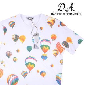 【L】 Daniele Alessandrini ダニエレアレッサンドリーニ Uネック半袖Tシャツ メンズ 春夏 ホワイト 白 並行輸入品 トップス|utsubostock