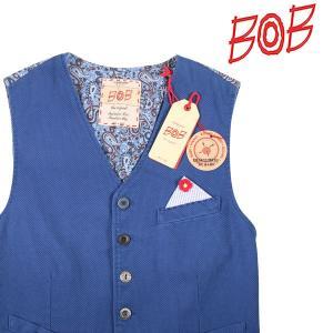 【46】 BOB ボブ ジレ SOON メンズ 春夏 ペイズリー ネイビー 紺 並行輸入品 ベスト|utsubostock