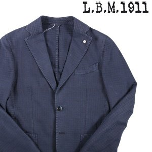 【46】 L.B.M.1911 エルビーエム ジャケット 2857 メンズ 春夏 千鳥 ネイビー 紺 並行輸入品 アウター トップス|utsubostock