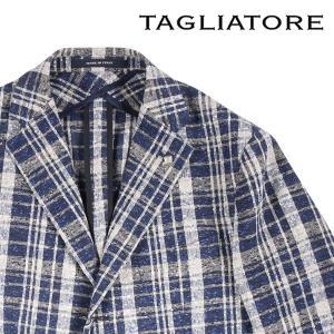 【50】 TAGLIATORE タリアトーレ ジャケット 1SMC23K メンズ 春夏 チェック ブルー 青 並行輸入品 アウター トップス utsubostock