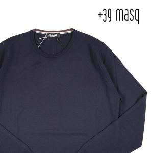 【S】 +39 masq マスク 丸首セーター メンズ 秋冬 ネイビー 紺 並行輸入品 ニット|utsubostock