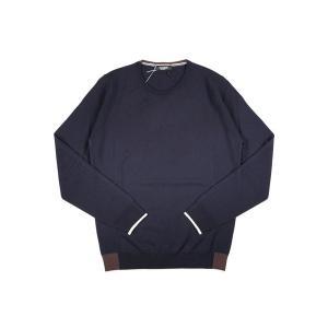 【XL】 +39 masq マスク 丸首セーター メンズ 秋冬 ネイビー 紺 並行輸入品 ニット utsubostock 02