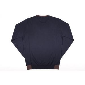 【XL】 +39 masq マスク 丸首セーター メンズ 秋冬 ネイビー 紺 並行輸入品 ニット utsubostock 03