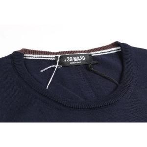 【XL】 +39 masq マスク 丸首セーター メンズ 秋冬 ネイビー 紺 並行輸入品 ニット utsubostock 04