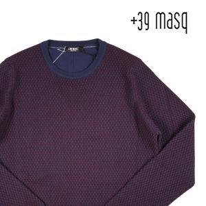 【L】 +39 masq マスク 丸首セーター メンズ 秋冬 ネイビー 紺 並行輸入品 ニット|utsubostock