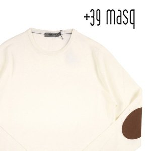 【L】 +39 masq マスク 丸首セーター メンズ 秋冬 ホワイト 白 並行輸入品 ニット|utsubostock
