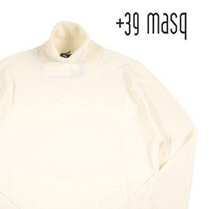 【M】 +39 masq マスク タートルネックセーター メンズ 秋冬 ホワイト 白 並行輸入品 ニット|utsubostock
