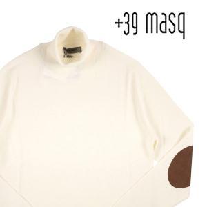 【L】 +39 masq マスク タートルネックセーター メンズ 秋冬 ホワイト 白 並行輸入品 ニット|utsubostock