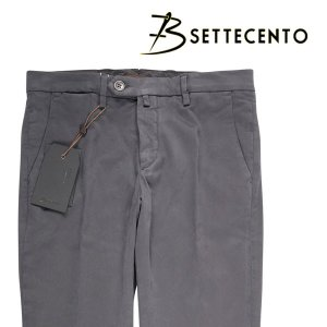 【38】 B SETTECENTO ビーセッテチェント パンツ メンズ グレー 灰色 並行輸入品 ズボン 大きいサイズ|utsubostock