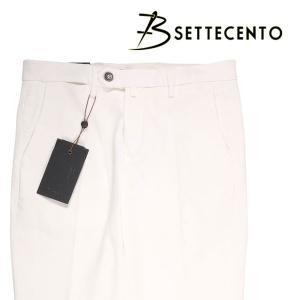 【42】 B SETTECENTO ビーセッテチェント パンツ メンズ ホワイト 白 並行輸入品 ズボン 大きいサイズ|utsubostock