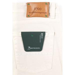 【42】 B SETTECENTO ビーセッテチェント ジーンズ メンズ ホワイト 白 並行輸入品 デニム 大きいサイズ|utsubostock|05