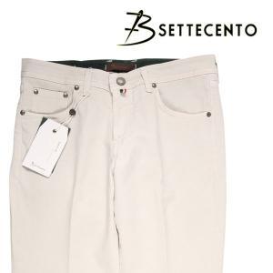 【44】 B SETTECENTO ビーセッテチェント ジーンズ メンズ ホワイト 白 並行輸入品 デニム 大きいサイズ|utsubostock