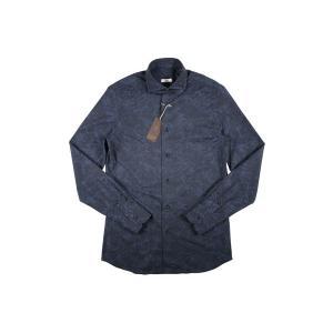 【38】 GALLIA ガリア 長袖シャツ メンズ 花柄 ネイビー 紺 並行輸入品 ビジネスシャツ|utsubostock|02