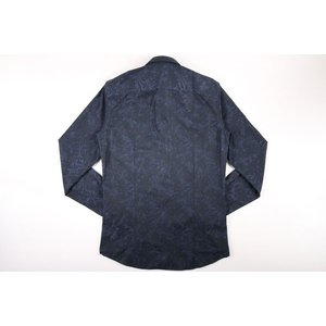 【38】 GALLIA ガリア 長袖シャツ メンズ 花柄 ネイビー 紺 並行輸入品 ビジネスシャツ|utsubostock|03