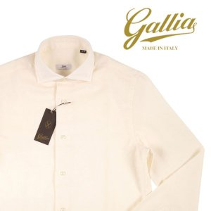 【41】 GALLIA ガリア 長袖シャツ メンズ 秋冬 ホワイト 白 並行輸入品 ビジネスシャツ|utsubostock