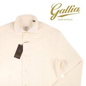 【42】 GALLIA ガリア 長袖シャツ メンズ 秋冬 ホワイト 白 並行輸入品 ビジネスシャツ 大きいサイズ|utsubostock