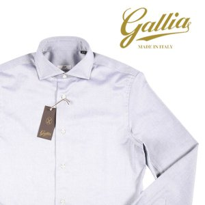 【40】 GALLIA ガリア 長袖シャツ メンズ ホワイト 白 並行輸入品 ビジネスシャツ|utsubostock