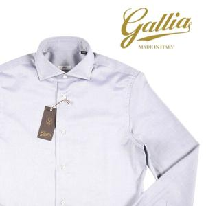 【42】 GALLIA ガリア 長袖シャツ メンズ ホワイト 白 並行輸入品 ビジネスシャツ 大きいサイズ|utsubostock