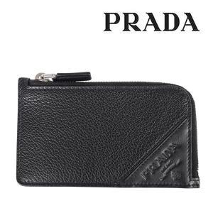PRADA プラダ カードケース 2MC021 メンズ ブラック 黒 レザー 並行輸入品|utsubostock