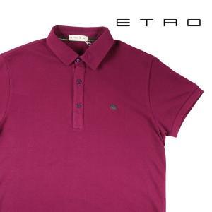 【XL】 ETRO エトロ 半袖ポロシャツ メンズ 春夏 パープル 紫 並行輸入品 トップス|utsubostock