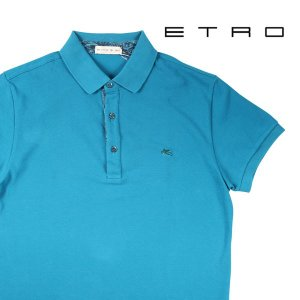 【S】 ETRO エトロ 半袖ポロシャツ メンズ 春夏 ブルー 青 並行輸入品 トップス|utsubostock