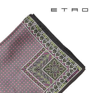 ETRO エトロ ポケットチーフ メンズ 水玉 ピンク 並行輸入品|utsubostock