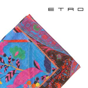 ETRO エトロ ポケットチーフ メンズ 春夏 シルク混 ブルー 青 並行輸入品|utsubostock