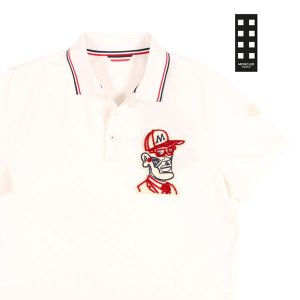 【XL】 MONCLER モンクレール 半袖ポロシャツ  メンズ 春夏 ホワイト 白 並行輸入品 トップス utsubostock