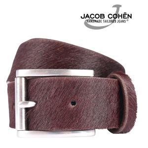 JACOB COHEN ヤコブコーエン ベルト J6146 メンズ レッド 赤 レザー 並行輸入品|utsubostock