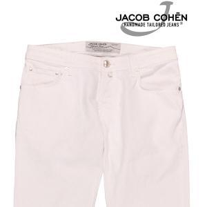 【35】 JACOB COHEN ヤコブコーエン ジーンズ PW622COMF メンズ ホワイト 白 並行輸入品 デニム 大きいサイズ|utsubostock