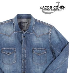 【L】 JACOB COHEN ヤコブコーエン デニムシャツ J8067 メンズ ブルー 青 並行輸入品 デニム|utsubostock