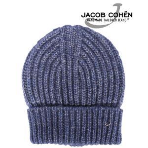 JACOB COHEN ヤコブコーエン ニット帽 JH031 メンズ 秋冬 ブルー 青 並行輸入品|utsubostock
