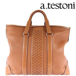 A.TESTONI ア・テストーニ ボストンバッグ メンズ ブラウン 茶 レザー 並行輸入品|utsubostock