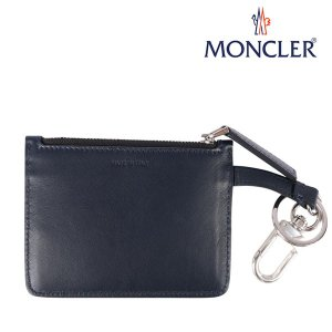 MONCLER モンクレール 財布 COIN PURSE メンズ ネイビー 紺 レザー 並行輸入品|utsubostock