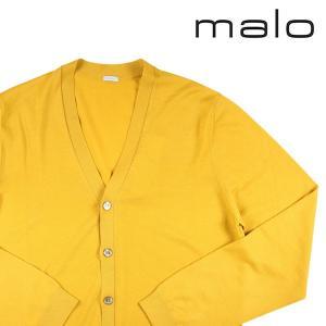 【56】 malo マーロ カーディガン メンズ イエロー 黄 並行輸入品 ニット 大きいサイズ|utsubostock