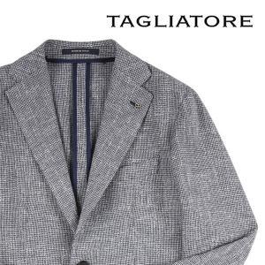 【46】 TAGLIATORE タリアトーレ ジャケット G-DAKAR メンズ 春夏 リネン混 チェック ネイビー 紺 並行輸入品 アウター トップス utsubostock
