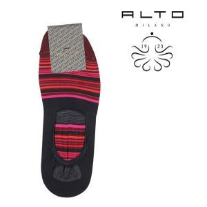 ALTO MILANO(アルトミラノ) ソックス PEAM1264US レッド x マルチカラー ONESIZE 21736rd 【S21737】|utsubostock