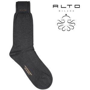 ALTO MILANO(アルトミラノ) ソックス AM186UC ダークグレー ONESIZE 21750dgy 【A21750】|utsubostock