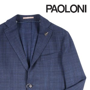 【48】 PAOLONI パオローニ ジャケット メンズ 春夏 リネン混 ネイビー 紺 並行輸入品 アウター トップス|utsubostock